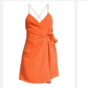 Alice + Olivia Katie tie dress in coral size 0